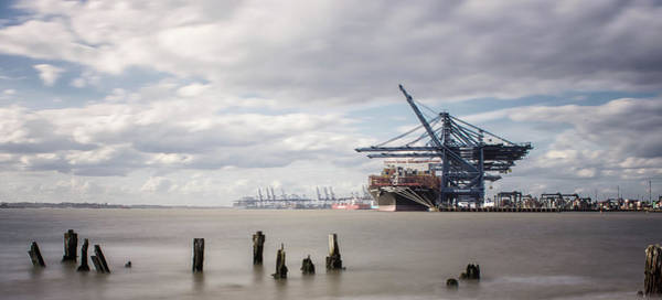 Transporter Wall Art - Photograph - Felixstowe Docks by Martin Newman