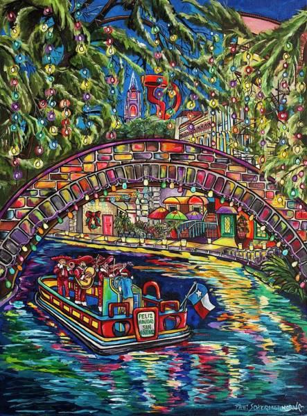 Painting - Feliz Navidad San Antonio by Patti Schermerhorn