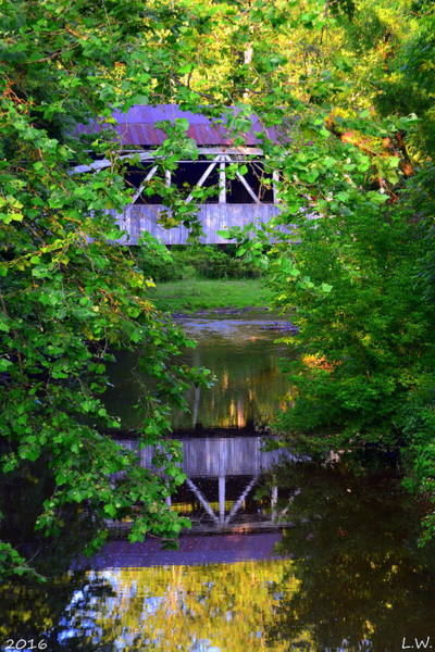 Photograph - Felton Covered Bridge Vertical by Lisa Wooten
