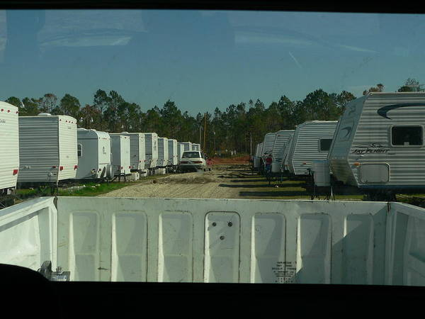 Photograph - Fema Trailer Park by Kathy K McClellan