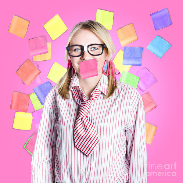 Amuse Photograph - Female Admin Clerk Swamped With Multitasking Jobs  by Jorgo Photography - Wall Art Gallery