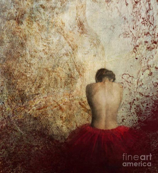 Silk Photograph - Female Back by Jelena Jovanovic