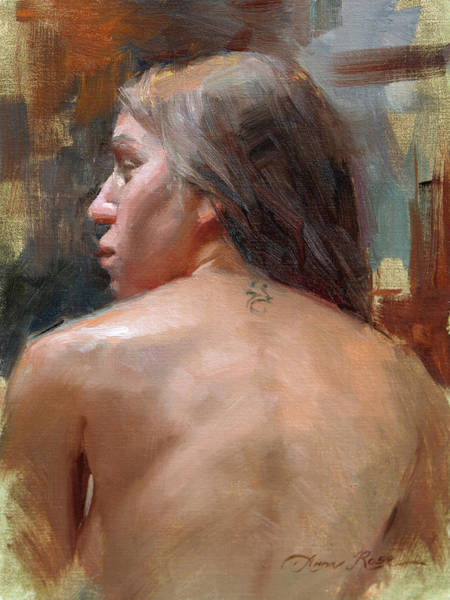 Wall Art - Painting - Female Back Study by Anna Rose Bain