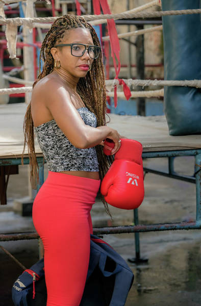 Photograph - Female Boxer Havana Cuba II by Joan Carroll