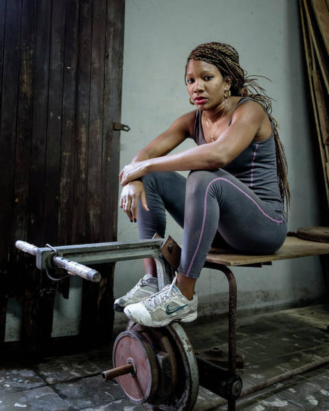 Photograph - Female Boxer Havana Cuba by Joan Carroll