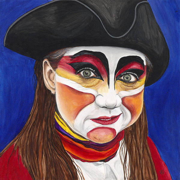 Painting - Female Carnival Pirate by Patty Vicknair