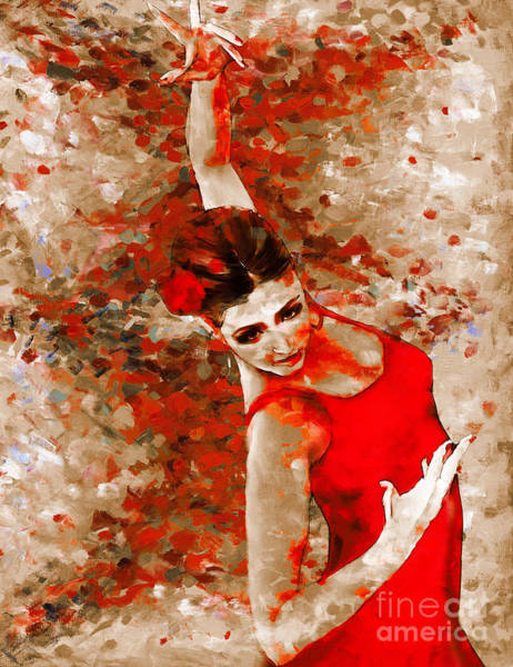 Latino Painting - Female Dream Dancer  by Gull G