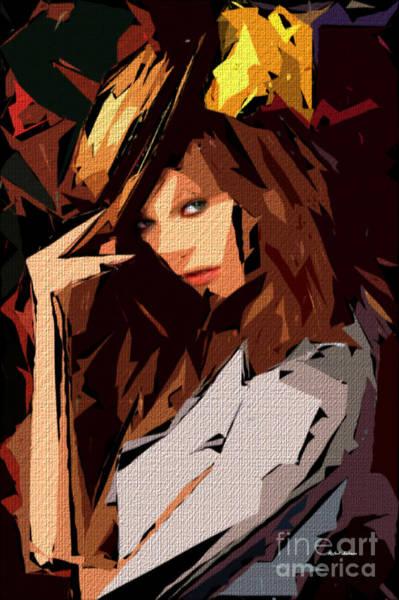 Digital Art - Female Expressions 606 by Rafael Salazar