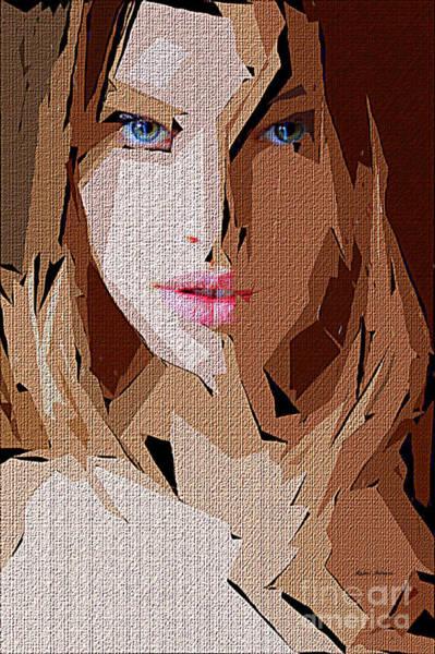 Digital Art - Female Expressions Li by Rafael Salazar