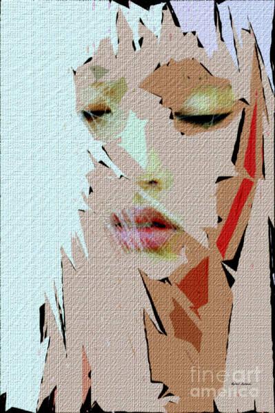 Digital Art - Female Expressions Lii by Rafael Salazar