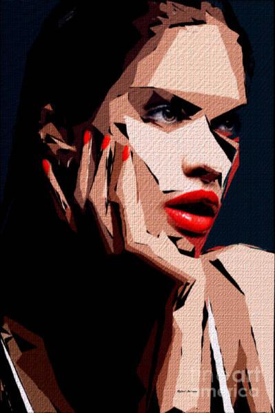 Digital Art - Female Expressions Liv by Rafael Salazar