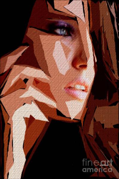Digital Art - Female Expressions Lv by Rafael Salazar