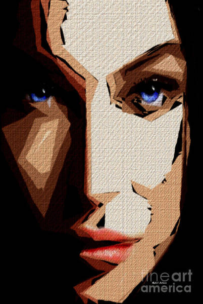 Digital Art - Female Expressions Lvi by Rafael Salazar