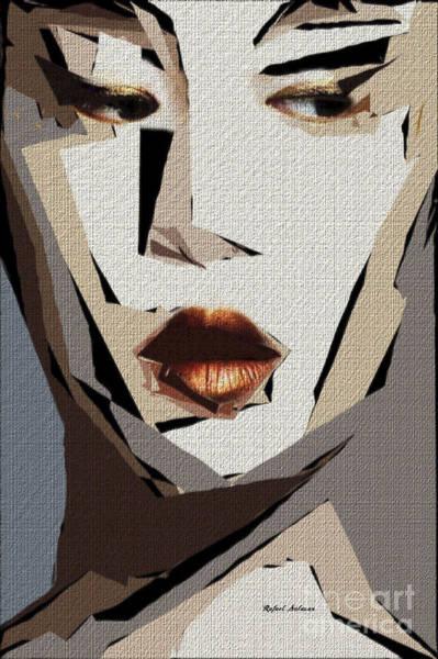 Digital Art - Female Expressions Xlii by Rafael Salazar