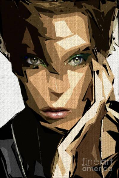 Digital Art - Female Expressions Xliv by Rafael Salazar