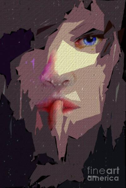 Digital Art - Female Expressions Xlvii by Rafael Salazar