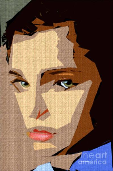 Digital Art - Female Expressions Xlviii by Rafael Salazar