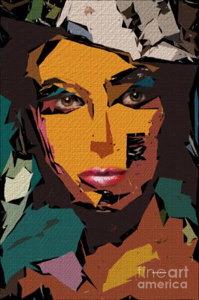 Digital Art - Female Expressions Xxi by Rafael Salazar