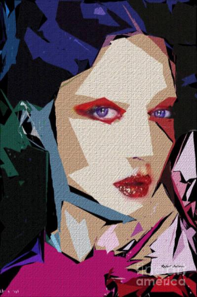 Digital Art - Female Expressions Xxxiii by Rafael Salazar