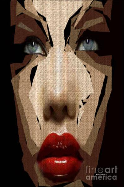 Digital Art - Female Expressions Xxxix by Rafael Salazar