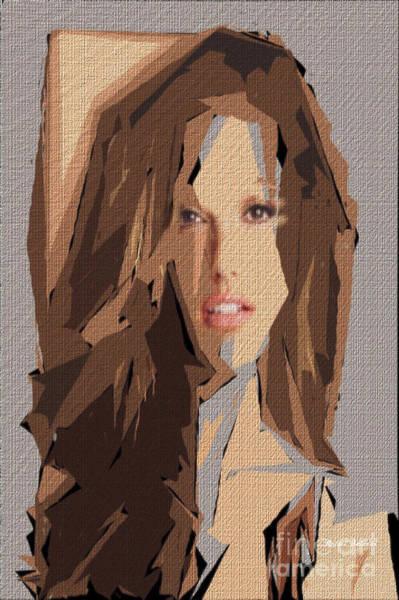 Digital Art - Female Expressions Xxxv by Rafael Salazar