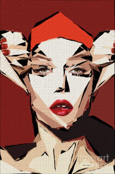 Digital Art - Female Expressions Xxxvii by Rafael Salazar
