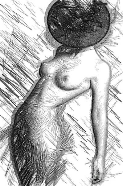 Digital Art - Female Figure Sketch 1266 by Rafael Salazar