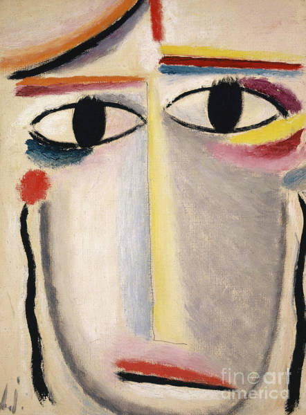Wall Art - Painting - Female Head by Alexej von Jawlensky