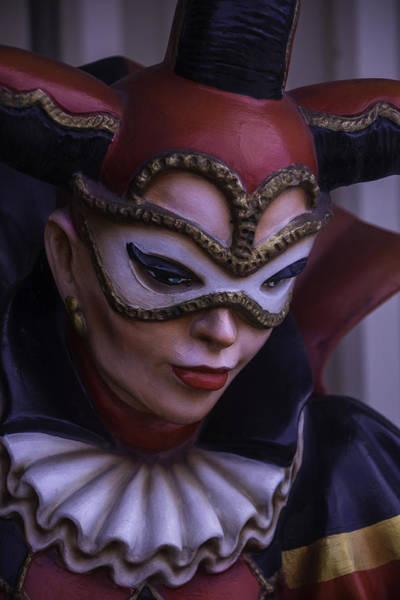 Nola Photograph - Female Jester by Garry Gay