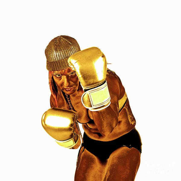 Kickboxing Photograph - Female Kick Boxer 5 by Humorous Quotes