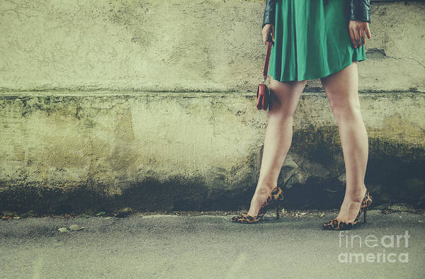 Photograph - Female Legs In Leopard High Heels by Jelena Jovanovic