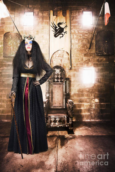 Photograph - Female Member Of Royalty Standing By Golden Throne by Jorgo Photography - Wall Art Gallery