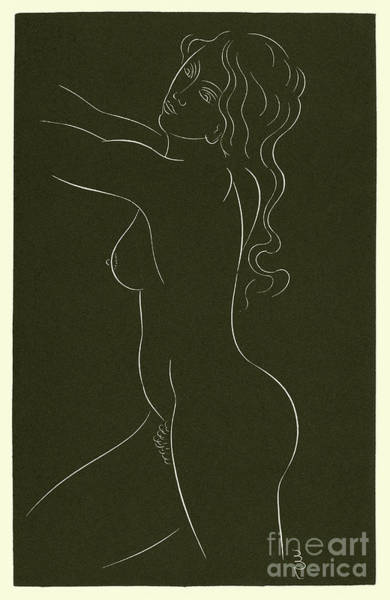 Gill Drawing - Female Nude, 1937 by Eric Gill