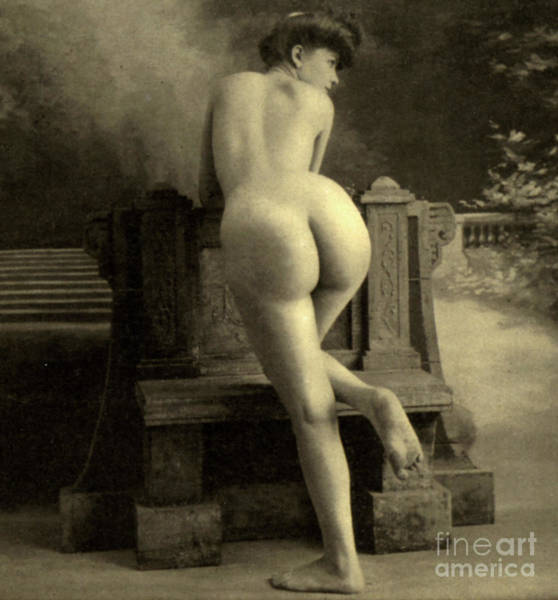 Unclothed Wall Art - Photograph - Female Nude, Circa 1900 by French School
