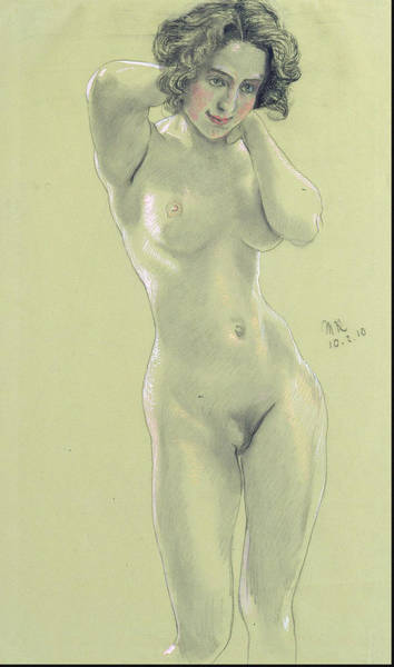 Perfect Body Painting - Female Nude February 10, 1910 by Max Klinger