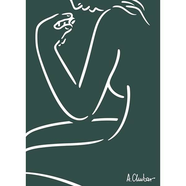 Female Nude Looking At A Art Print by Alexander Chubar