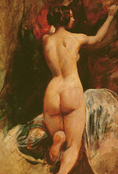 Bottom Painting - Female Nude Seen From The Back by William Etty