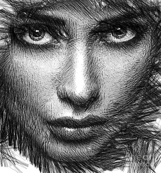 Digital Art - Female Portrait 1347 by Rafael Salazar