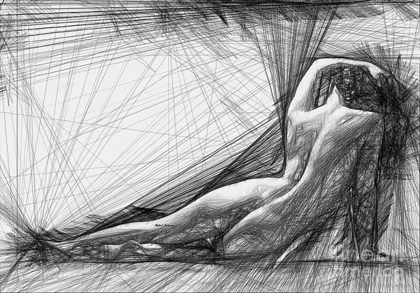 Digital Art - Female Pose For Studio Drawing 1463 by Rafael Salazar