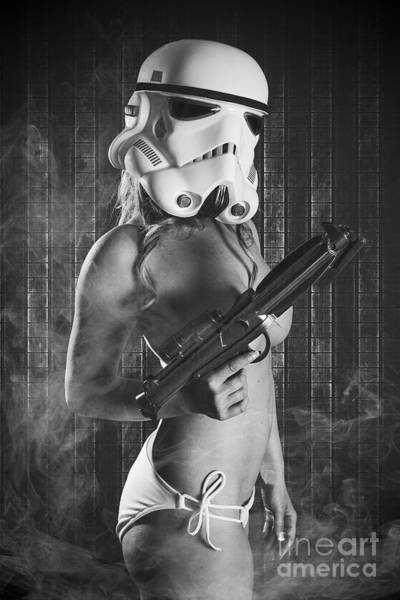 Laser Gun Photograph - Female Trooper by Jt PhotoDesign