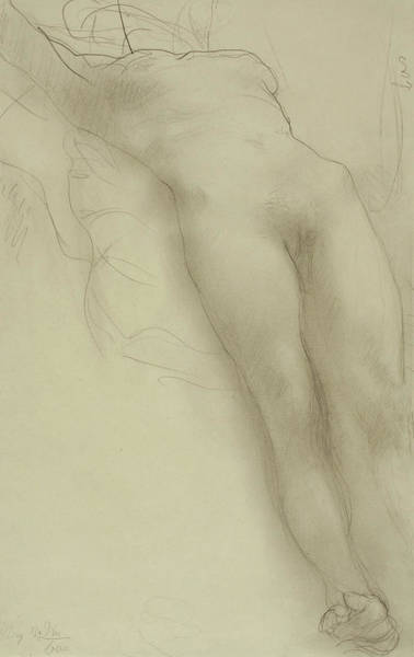 Full Length Drawing - Female Torso by Auguste Rodin
