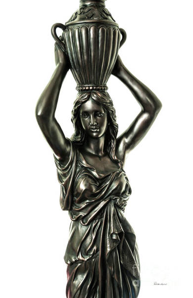 Female Water Goddess Bronze Statue 3288a Art Print