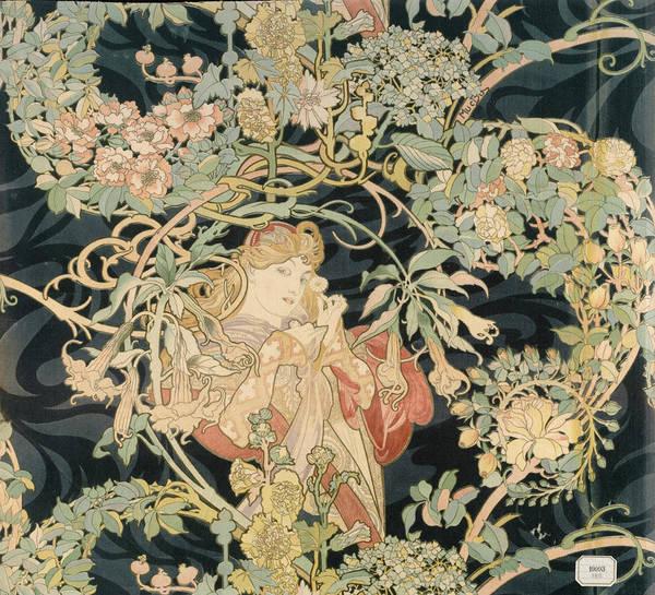 Wall Art - Painting - Femme A La Marguerite by Alphonse Mucha