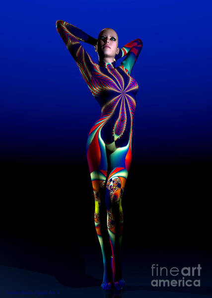 Wall Art - Digital Art - Femme Fatale by Sandra Bauser Digital Art
