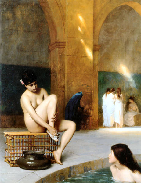 Painting - Femme Nue 1889 by Jean Leon Gerome 1824-1904