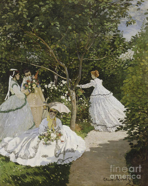 Painting - Femmes Au Jardin by Celestial Images