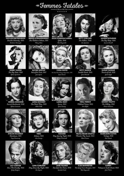 Bogart Digital Art - Femmes Fatales by Zapista Zapista
