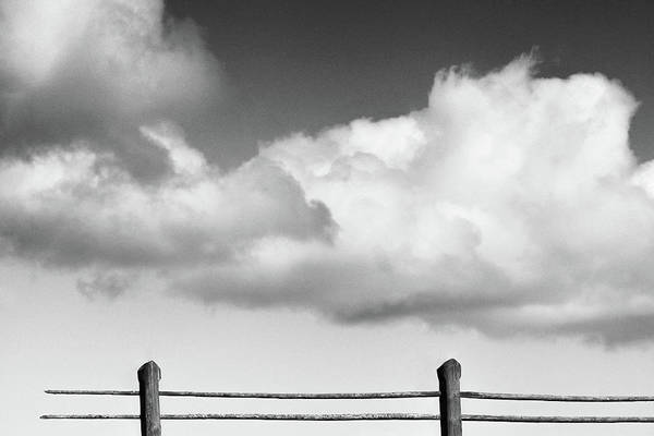 Photograph - Fence #2991 Bw by Andrey Godyaykin