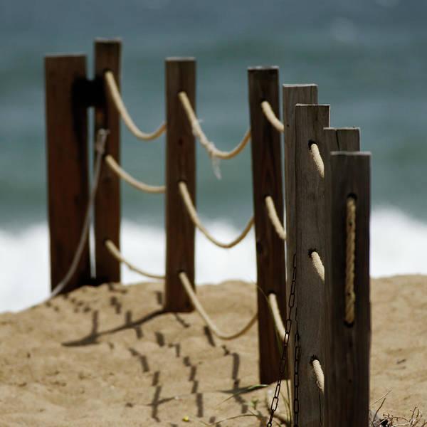 Wall Art - Photograph - Fence Along The Beach by Julie Niemela