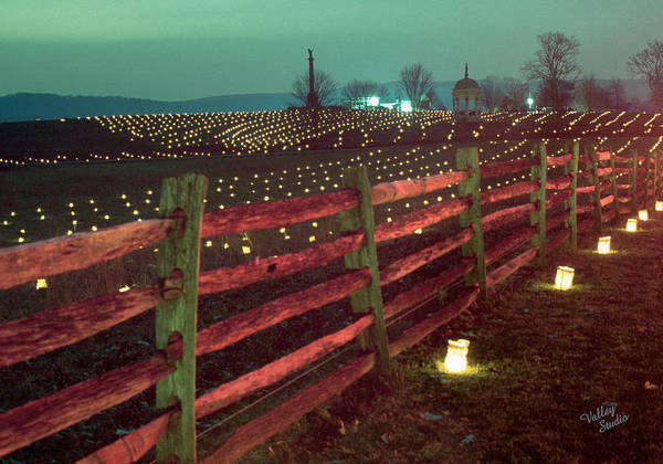 Wall Art - Photograph - Fence And Luminaries 11 by Judi Quelland